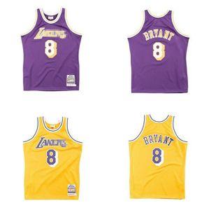 basket maschile LosAngelesLakers8BryantMitchell Ness 1996-1997 Hardwoods Classics Jersey autentica