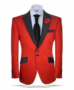 Custom Made Groomsmen Peak Black Lapel Groom Tuxedos One Button Men Suits Wedding Prom Dinner Best Man Blazer ( Jacket+Pants+Tie) K423
