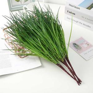 Grass plástico Artificial planta plantas Green Grass plástico flores decorativas Jardim Decoração planta artificial Falso