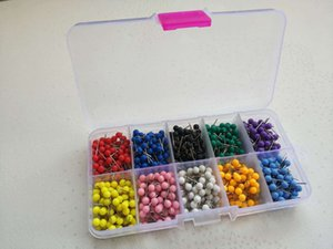 4*11mm Small Map Push Pins Map Tacks, Plastic Head with Steel Point,500pcs set,10colors, Free Shipping