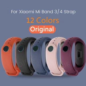 Original-Bügel für Xiaomi Mi Band 4 3 Silikon-Armband Armband Ersatz für Xiaomi Band 3 4 MiBand M4 M3 Wrist Strap Farbe