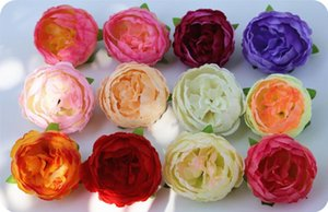 12 color DIY Artificial Flowers Silk Peony Flower Heads Wedding Party Decoration Supplies Fake Flower Head Home Decorations