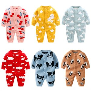 Baby newborn autumn climbing clothes baby set Body sweater clothes sweaterinfant jumpsuit base sweater