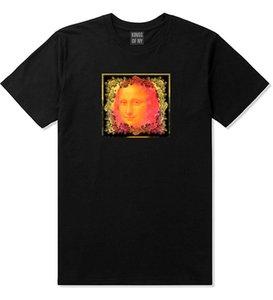 Kings of NY Mona Artwork Art Lisa Wall Painting T-Shirt Summer Short Sleeves Cotton T-Shirt Top Tee T Shirt Casual Men Clothing