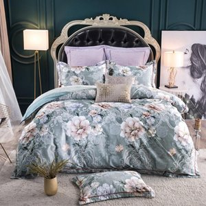 Chic Home Bright Color Flowers Blossom Bedding Set 100%Cotton Soft Silky Duvet Cover Bed sheet Pillowcase Queen King size JPcs