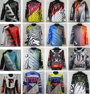 Sıcak FOX yokuş aşağı giyim sürme off-road yarış takım elbise bisiklet dış donanımları gevşek özelleştirilebilir tişört uzun kollu