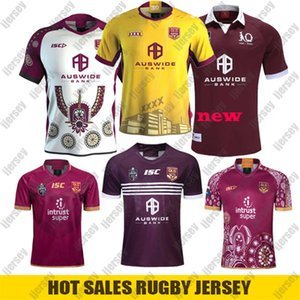 New QLD MAROONS 2019 Início Formação SLATER de rugby Jerseys SMITH NRL Rugby League Jerseys 2020 camisa Indígena de rugby Austrália Retro Jersey