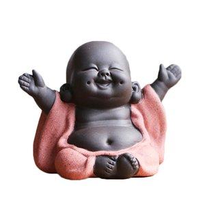 N Thé Faveur Bonne Bouddha Maitreya thé Pet Teahouse Ornements Plantes en céramique Accueil Décor Succulent décoration style 4 pour choisir T200710