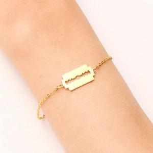 Forma de pulsera DOTIFI acero inoxidable para las mujeres del oro y de la plata del color máquina de afeitar Pulseira Femenina amante de compromiso U7nA joyería #