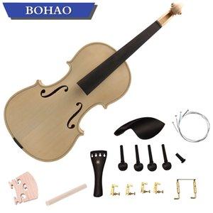 Новый 4/4 Размер скрипки DIY Kit Естественный твердой древесины клена Полный комплект для скрипки Части Handwork
