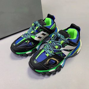 2020New color high quality new track Paris Triple S 3.0TRACK.2 TRAINERS gray orange casual shoes flat shoes Tess S.Gomma Trek35-45 mnb01