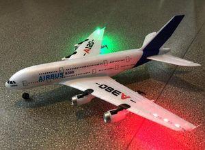 insansız oyuncaklar için Airbus A380 2.4G 3CH Uzaktan kumandalı uçak Sabit Kanat Düzlem Açık uzaktan kumanda