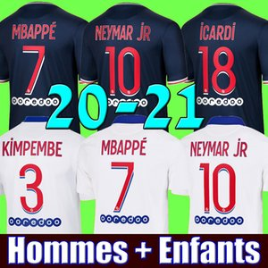 Maillots de football kit 20 21 MBAPPE soccer jersey 2020 2021 DI MARIA ICARDI MARQUINHOS jerseys camisetas CAVANI maillot de foot youth kits