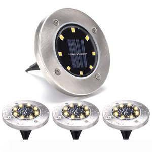 8 LED Solar Light Solar Powered Ground Buried Light Home Garden Under Ground Lamp Outdoor Lawn Path Way Garden Decking Lamps