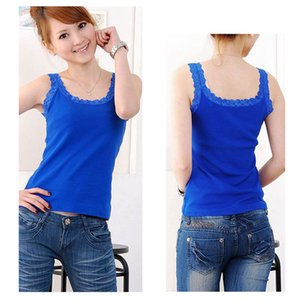 Summer Women Sexy Tank Tops Multicolors Sleeveless Bodycon Temperament T-shirt Vest Fashion Lace Camisole Top