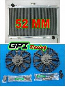 алюминиевый радиатор для Сильвии S13 SR20DET 89-94 MT 90 91 + бандаж + вентиляторов n6p6 #