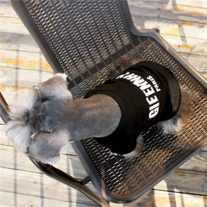빅 클래식 편지 애완 동물 T 셔츠 패션 검은 개 셔츠 소프트 코튼 코기 슈나우저 의류 고품질 고양이 의류