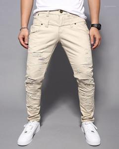 Pantaloni Street Style Mens moda multi colore strappato Uomo Abbigliamento Uomo Designer Skinny Jeans lunghi Corgo