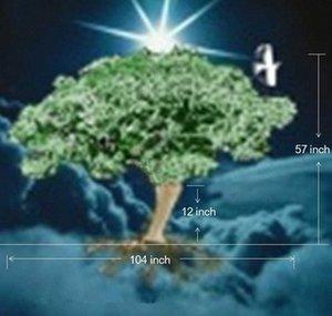 تصميم تكلفة 3D التوضيح LOTE شجرة الطول 1.4 متر تدوير M7Wr #