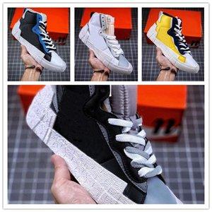 x Blazer Mediados de nieve playa zapatos ocasionales del tamaño mujeres de los hombres de alta calidad de los zapatos de los deportes al aire libre de ocio de moda zapatillas de jogging 5,5-11
