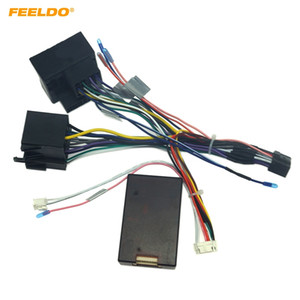 FEELDO Car Audio Raddio 16PIN Android Power Cable Adapter With Canbus Box For Porsche Cayenne CD DVD Player Wiring Harness #6554