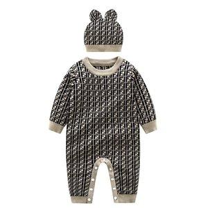 2 pezzi vestiti ragazzo neonato pagliaccetto del bambino lavorati a maglia tuta del bambino appena nato autunno pagliaccetto vestito esterno autunno e in inverno maglione maglione