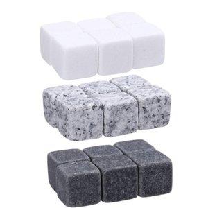 pedras de uísque 6pc / Saco dos cubos de gelo da geleira refrigerador Pedra uísque Rochas Ice Pedra Barware suprimentos Ferramentas Kitchen Bar Brinquedos GGA3591