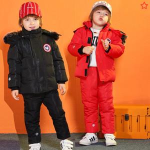 Yelek Erkek Palto tulumları Çocuk yürümeye başlayan -30 Derece yeni Kış Çocuk Giyim Seti Aşağı Ceket kız bebek giysileri için snowsuit Isınma
