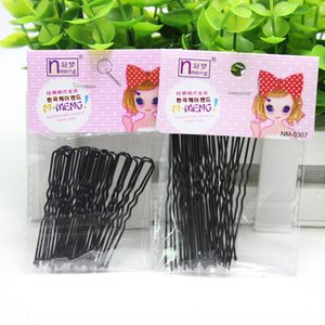 Black paint U-clip bride hairpin adult female children hair card Issuing card accessories Yiwu Accessories