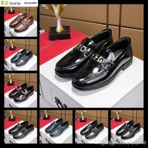 OLB7 Top Wedding Red Bottom Oxford Businesss Dress Shoes Dandelion Flat Black Genuine Leather 38-44