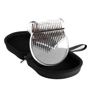 Kalimba Acrylic Thumb Piano 17 Metal Keys with Dustproof and Waterproof and Drop-proof Piano Bag with Mallet