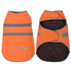 Pet Reflective Rain Coat Nylon Clasp Orange Waterproof Vest Jacket Dog Raincoat High Visibility Rainwear For Walking Running