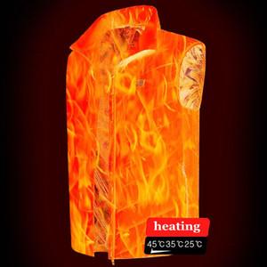 Hommes USB à trois vitesses de chauffage intelligente Gilet Veste Hommes d'hiver électrique vétement Waistcoat Pour Sport Randonnées