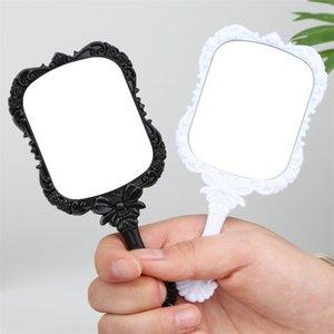 Miroir Compact Portable en plastique maquillage papillon européen Miroirs haute définition poignée Looking Glass Noir Blanc Articles ménagers 1 B2 75 km