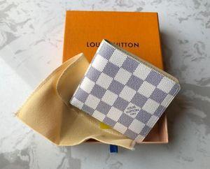 2020 yeni L torba Ücretsiz kutu 118 ile yüksek kaliteli Ekose desen kadın cüzdan erkekler pures high-end ler tasarımcı L cüzdan cüzdan nakliye