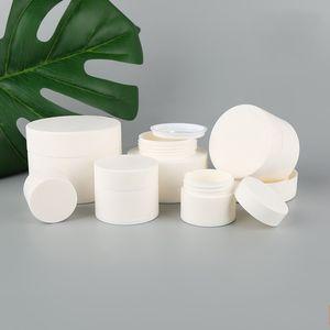 Leeren Frosted White Box kosmetische Creme Proben Gläser Fall Emulsion Maske Lipgloss Container Plastikgesichtsreiniger Trennen 2 45xb7 B2