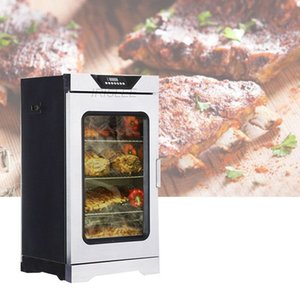 acier inoxydable 220v machine à fumer alimentaire poisson poulet électrique intelligent ménages petit four de bacon commercial / viande fumée four
