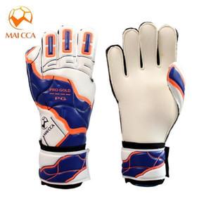 New Men Goalkeeper Gloves Finger Protection Thicken Latex Soccer Football 5 Fingersave Goalie Glove emulsion Non-slip Breathable Gloves