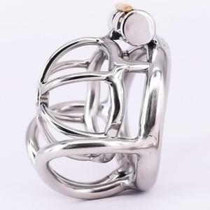Chastity Metal сталь из нержавеющей клетовой клетки маленькое кольцо Бондаж пенис блокировки яичко-яичко-редукторы Устройства пениса чехлы на целомудрию для мужчин Одру