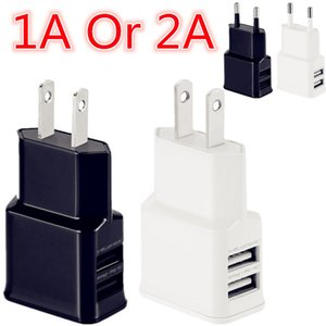 Usb AC charger 5V 1A 2A Dual usb ports US Eu Ac home wall charger power adapter for iphone 7 8 X Samsung s6 s7 edge s8 android phone