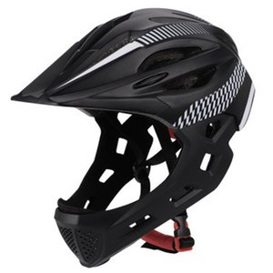 Cycling Outdoor Children Bike Riding With Rear Light Full Face Bicycle Helmet Unisex Chin Protective Safe Detachable