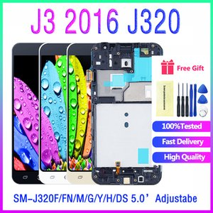 For Samsung Galaxy J3 2016 J320F J320FN J320H J320M SM-J320FN M H DS LCD Display Touch Screen Digitizer Replacement Frame