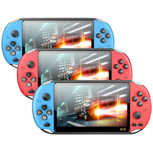 X12 5.1 inch Handheld Game Video Player 8G LED Screen Support Game download X12 Retro Consoles Support TF Card Free DHL
