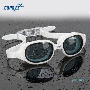 luxury- COPOZZ Swimming Goggles Myopia 0 -1.5 to -7 Men Women Anti fog UV Protecion Waterproof Swimming Glasses Diopter Swim Eyewear