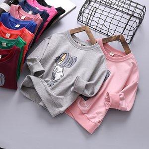 가을 신상품 어린이 스웨터 여자로 돌아 가기 반사 날개는 남자 라운드 넥면 스웨터 C1 탑