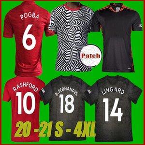 NUOVI 20 21 manchester Pogba B. FERNANDES unito maglia di calcio 2020 camicia di calcio 2021LINGARD Lukaku RASHFORD MARZIALI Utd uniformi formato S-4XL