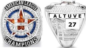 هيوستن 2019 2020 جرم سماوي أمريكا رابطة العالم البيسبول فريق بطولة أبطال عصابة الرياضة تذكارية ALTUVE SPRINGER فان الرجال هدية يمكن مزج