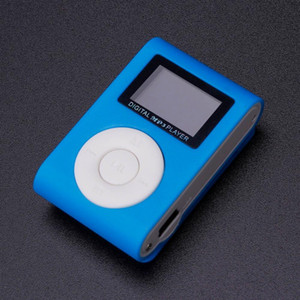 2020 Mini USB Clip MP3 Player LCD Screen Support 32GB Micro SD TF Card Portable MP3 player Mini Clip Player mp3