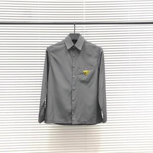 20ss camisa homens vendedor quente retro blusa importados de material fino braço carta de lapela camisetas Peito triângulo confortável e respirável