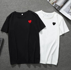 20 style 2019 COM Qualité Hommes Femmes Gery Comme des Garçons poignée totale T-shirt blanc décision rapide Taille M F S
